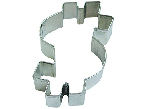 R&M Dollar Sign 4'' Cookie Cutter in Durable, Economical, Tinplated Steel