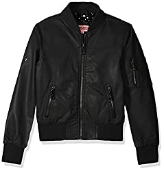 Urban Republic Big Girls' Ur Pu Jacket, Black, 16