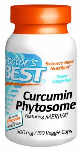 Meilleur curcumine Phytosome du docteur Doté Meriva Vegetarian Capsules, 500mg 180 comte