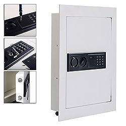 Flat Recessed Wall Safe Box 0.8CF Digital Security Lock With Secret PIN Code, Mounts Inside Wall TSE114A2