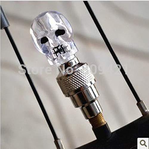Wholesale 1000pcs/lot Skull Flashing LED Valve Cap Light Wheel Tyre Lamp for Car Motorcycle Bikement ()