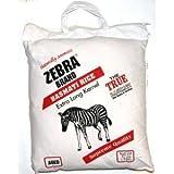 zebra basmati rice - Naturally Aromatic Zebra Basmati Rice Extra Long Kernel 10 Lb Bag - NET WT 10 lbs by Zebra