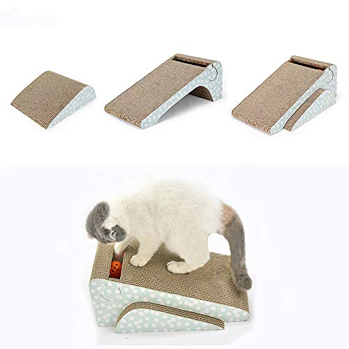 (meleg otthon Cat Scratcher Cardboard,Cat Scratch Pad with Ball Catnip 2-in-1 Strong Cat Scratch Lounge Refill )