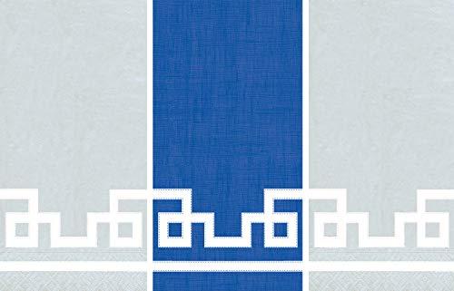 Caspari Guest Towels Collection (Rive Gauche Silver, Rive Gauche Marine Blue)