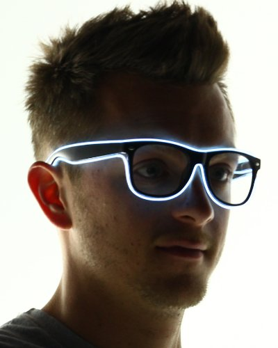 Light Up El Wire Glasses (White)