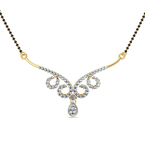 14K Or jaune 0.8CT TW White-diamond (IJ | SI) Mangalsutra