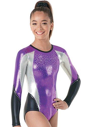 Balera Gymnastics Metallic Leotard Long Sleeve Grape/Fuchsia Child Medium