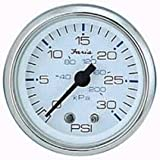 Faria 13812 Chesapeake Water Pressure Gauge Kit 30 PSI-White SS, 2'