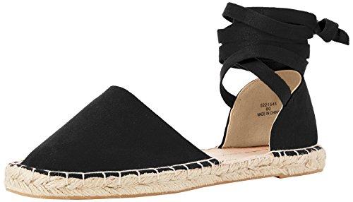 New Look WoMen Wide Foot Jas Espadrilles Black (Black 1)