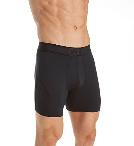 Saxx Men's Kinetic Boxer Briefs Black Medium Blackout
