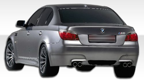 Bumper 4dr Fiberglass (Duraflex 104421 2004-2010 BMW 5 Series E60 4Dr M5 Look Rear Bumper Cover)