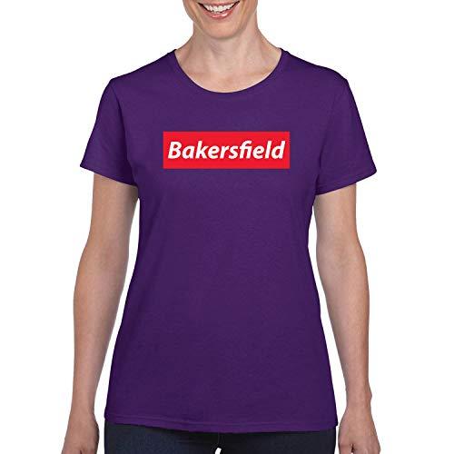 Red Box Logo Bakersfield City Pride Womens Graphic T-Shirt, Purple, Medium]()