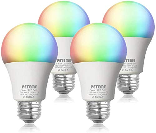 Smart LED Light Bulb 2.4G(Not 5G) E26 WiFi Multicolor Light Bulb Work with Alexa