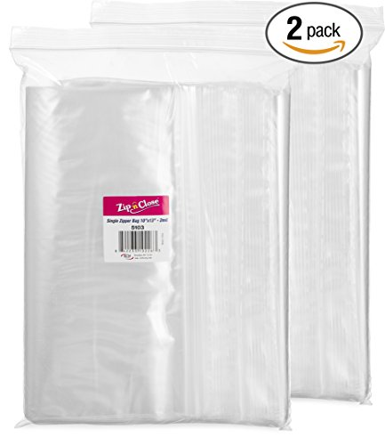 Zip 'n Close Bags 10'' x 13'', 2 Mil (Pack of 200) Zipper Re-Closable Plastic Disposable Clear Bags by Zip 'n Close