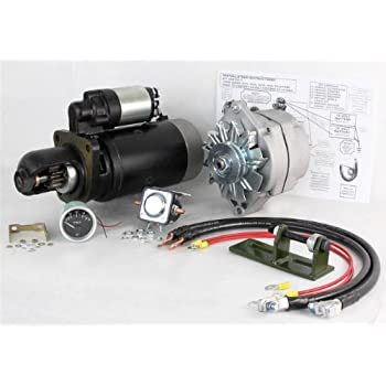 new 24 to 12 volt alternator and starter kit fits john deere tractor 4020  ty16172 ts-8000 ty16172 se501474