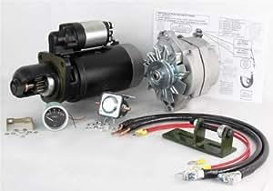 new 24 to 12 volt alternator and starter kit. Black Bedroom Furniture Sets. Home Design Ideas