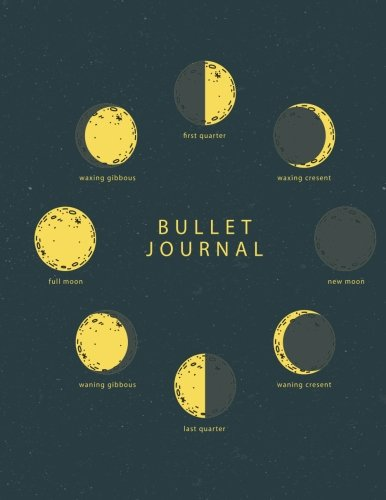 Download Bullet journal quarterly planner with blank yearly & monthly calendar, and habit tracker, 120 dot grid & 15 lined pages, 8.5x11in, moon phase science: ... large diary journal to write in everyday life ebook