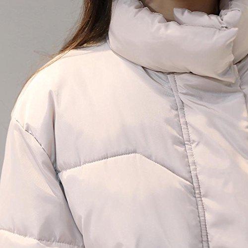 ginocchio cotone di cappotto sopra giacca lungo al Pink la donne grandi lungo donna di cappotto da dimensioni di tratto Inverno cotone wHBxvqqS
