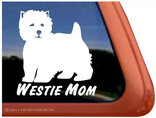 Westie Mom Vinyl West Highland White Terrier Dog Window Decal ()