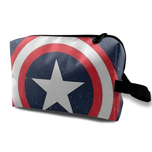 LIUYAN Toiletry Travel Bag Captain America Cosmetic Bag for Women Girls