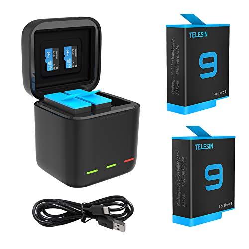 Cargador Usb Cable Tipo C Y Baterias (2un) Para Gopro Hero 9