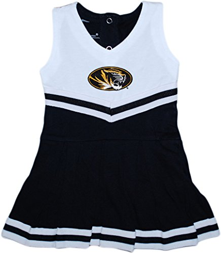University of Missouri Tigers Baby and Toddler Cheerleader Bodysuit Dress Black