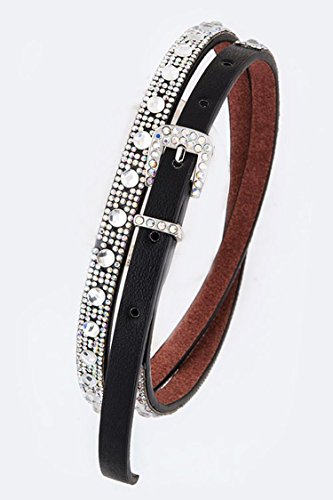 Chic Chelsea Crystal Dots Iconic Fashion Skinny Belt - Palomar Outlets