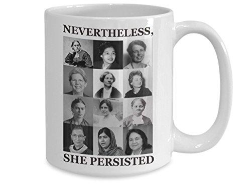 Feminist Photo - Nevertheless She Persisted Feminist Photo Collage Mug 15oz