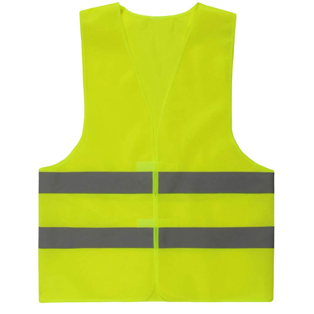 Snner Reflective Safety Vest Bright Neon Color Vest High Visibility Safety Vest with Silver Stripe Velcro Green