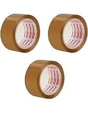 Packatape. Lot de 3 rouleaux de ruban adhésif Marron 66 m de long et 48 mm de large. Idéal comme ruban adhésif, ruban de paquet, matériel d'emballage. 3 rouleaux.