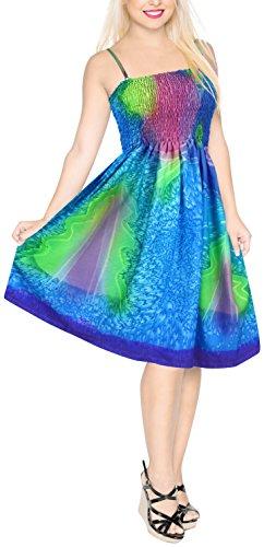 Da Bagno Corto a520 Di La A Abito Spiaggia Leela Stampato 16 Costumi Donne Tubo Blu 0mvnwN8O
