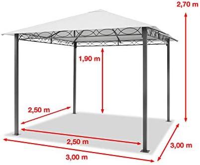 TOOLPORT Cenador de jardín 3x3 m cenador Impermeable pabellón con ...
