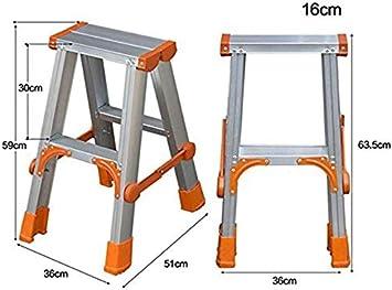 GYX Escalera Escalera Ligera, Escalera de aluminio Escalera de extensión Escalera de ingeniería multipropósito, Escalera plegable pequeña,2 pasos: Amazon.es: Bricolaje y herramientas