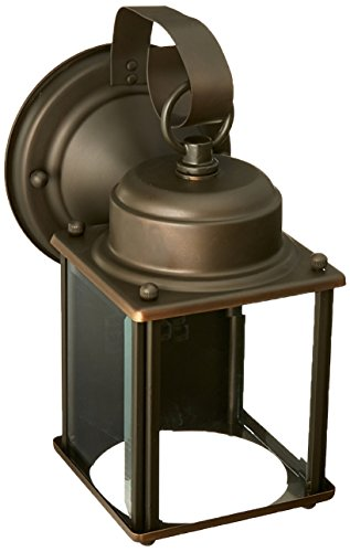 Royal Lantern Bronze (Forte Lighting 1047-01-14 Traditional 1-Light Exterior Wall Lantern, Royal Bronze Finish with Clear Beveled Glass)