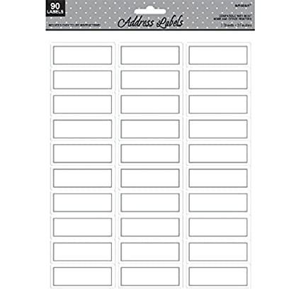 photograph regarding Printable Sticker Labels called amscan Classy Border Printable Sticker Go over Labels (90 Piece), White/Silver, 8.5\