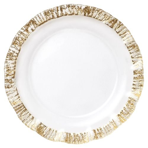 - Vietri Rufolo Glass Gold Service Plate/Charger