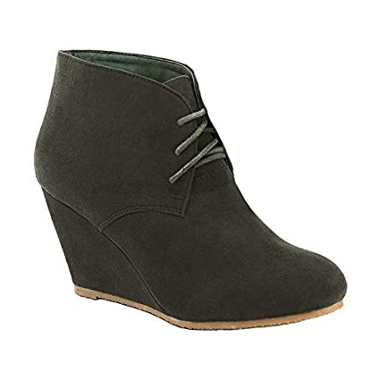 f4560de662478 Amazon.com: New Womens Wedge Booties High Heels Ankle Boots Shoes ...