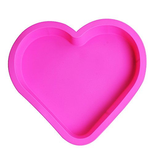 28cm Large DIY Heart-shaped Silicone Cake Mold Chocolate Mold Silicone Mold Christmas Cake (Large Chocolate Heart)