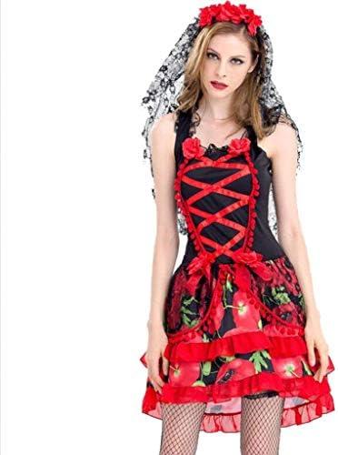XRQ Disfraz de Novia Fantasma Disfraz de Halloween, Vampiro ...