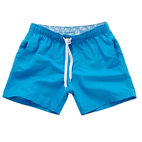 Alalaso Men's Swim Suit Trunks - Vacation Surf Board Shorts for Spring Break Blue