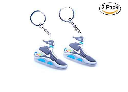 Glow in the Dark Air Mag Back to the Future 2D Flat Sneaker Keychain (2 Pack)