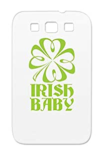 TPU Yellow Shamrock Baby St Pattys St. Patrick's Day Holidays Occasions Paddys St Patricks Case For Sumsang Galaxy S3