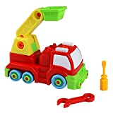 Take Apart Car Rescue Truck Toys Assembly Car Toy Plastic Model Vehicle for Children Kids Boy Girl 3 Years Old