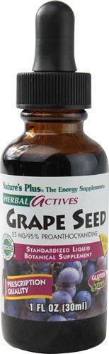 Nature's Plus Herbal Actives Grape Seed Liquid Suspension -- 25 mg - 1 fl oz - 2pc