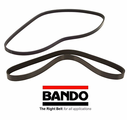 - BANDO Mazda RX8 2004-2008 drive belt set 2 piece set Alternator and Air Conditioner Accessory Serpentine Drive Belt Set for Pulleys 5PK815 and 4PK775