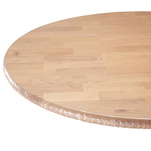 - WalterDrake Clear Vinyl Elasticized Table Cover 42