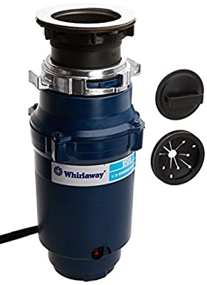 Whirlaway 191PC 1/3 hp Garbage Disposal with Cord, Blue
