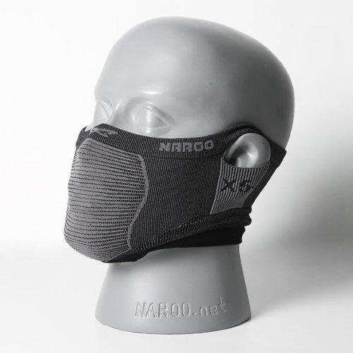 NAROO MASK(ナルーマスク) X5s スポーツマスク フェイスマスク スギ・ヒノキ花粉症対策 UVカット (ブラック)