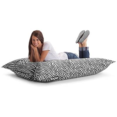 The Original Big Joe Bean Bag | Slips Easily Under a Bed or Behind a Sofa for Storage (Zebra)