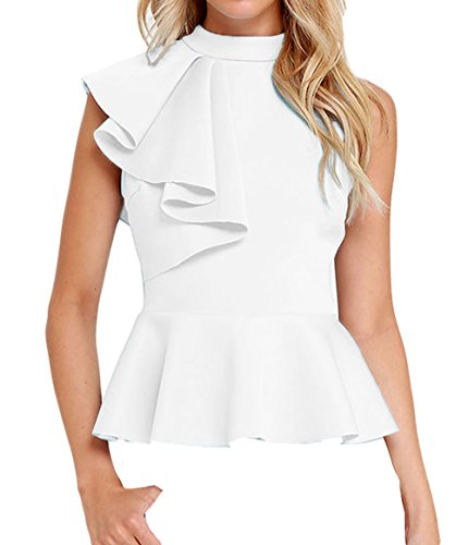 Shawhuwa Womens Asymmetric Ruffle Clubwear product image